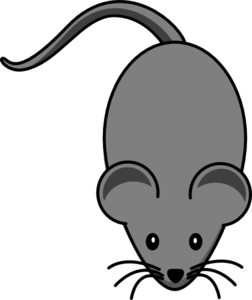 Mouse clip grey. Dark lab art at