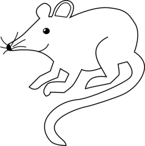 Mouse clip simple. Outline art at clker