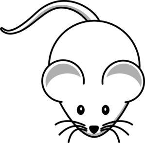Mouse clipart line art. White clip at clker