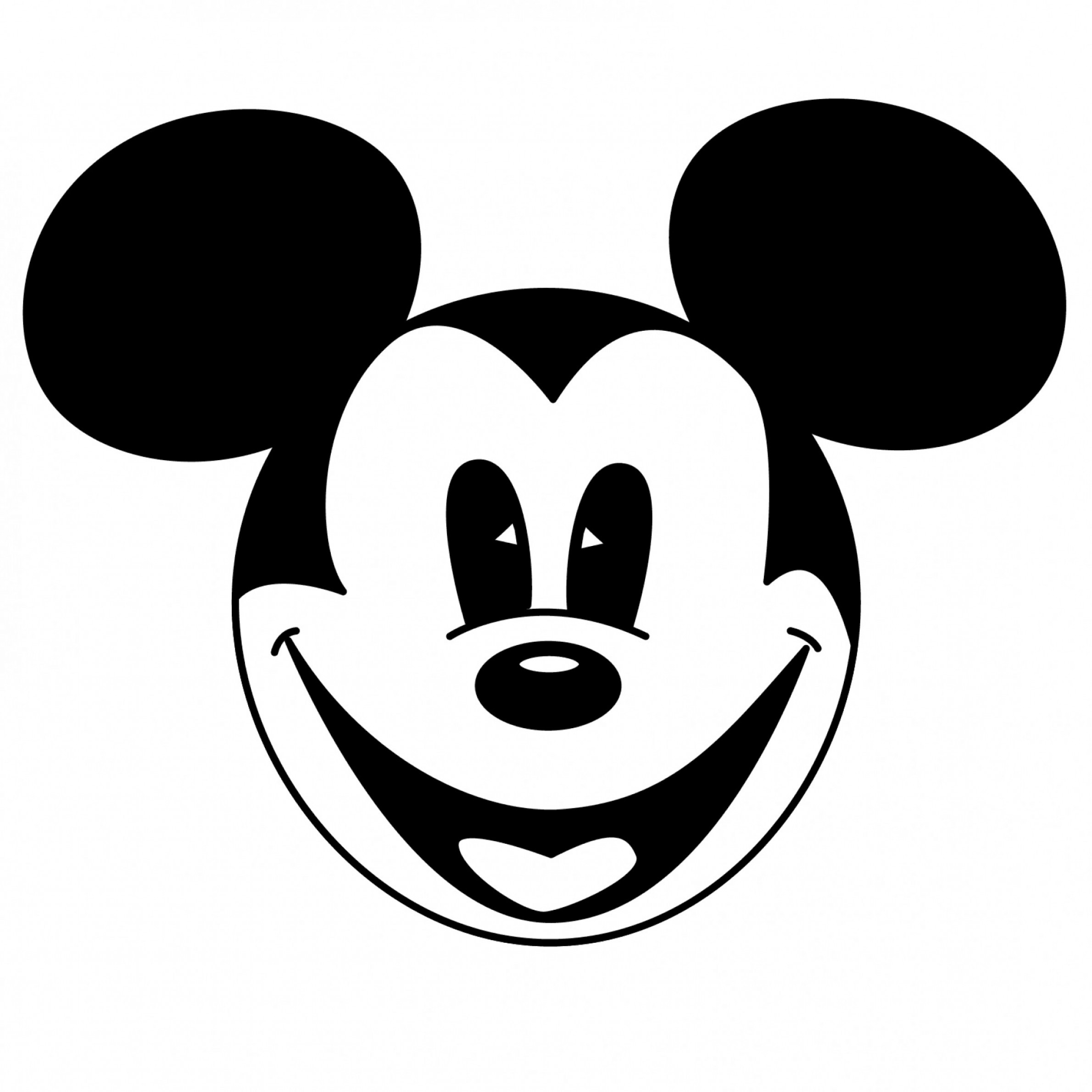 Mouse clipart logo. Mickey black and white
