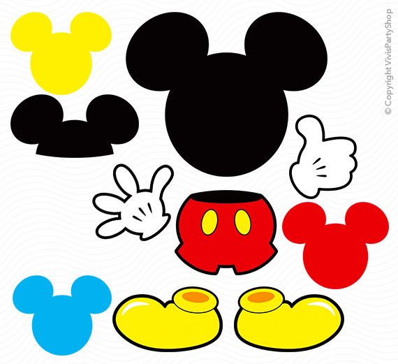 Mouse clipart printable. Mickey instant download por