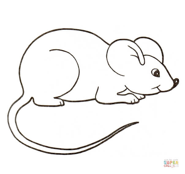Mouse clipart printable. Coloring pages preschool cute