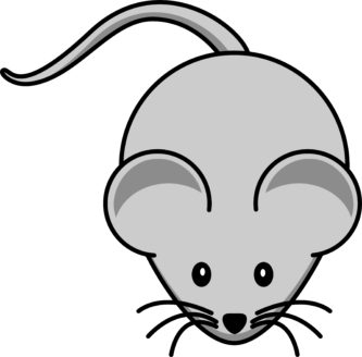 Mouse clipart printable. Pencil and in color