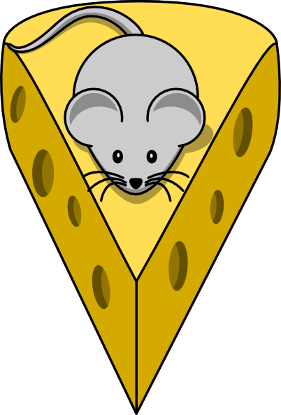 Cheese clipart round cheese. Simple cartoon mouse clip