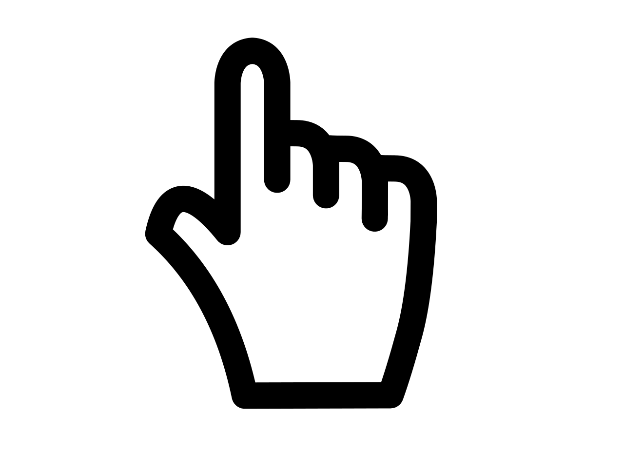 Vector pointers hand icon. Free mouse over png