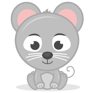 Mouse svg cartoon baby. Animals pets miss kate