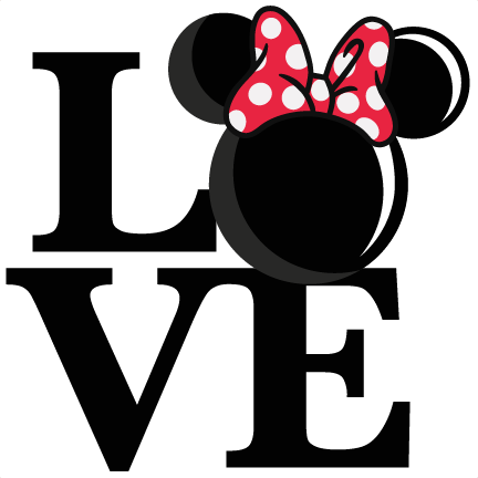 Mouse svg cute. Love girl title scrapbook