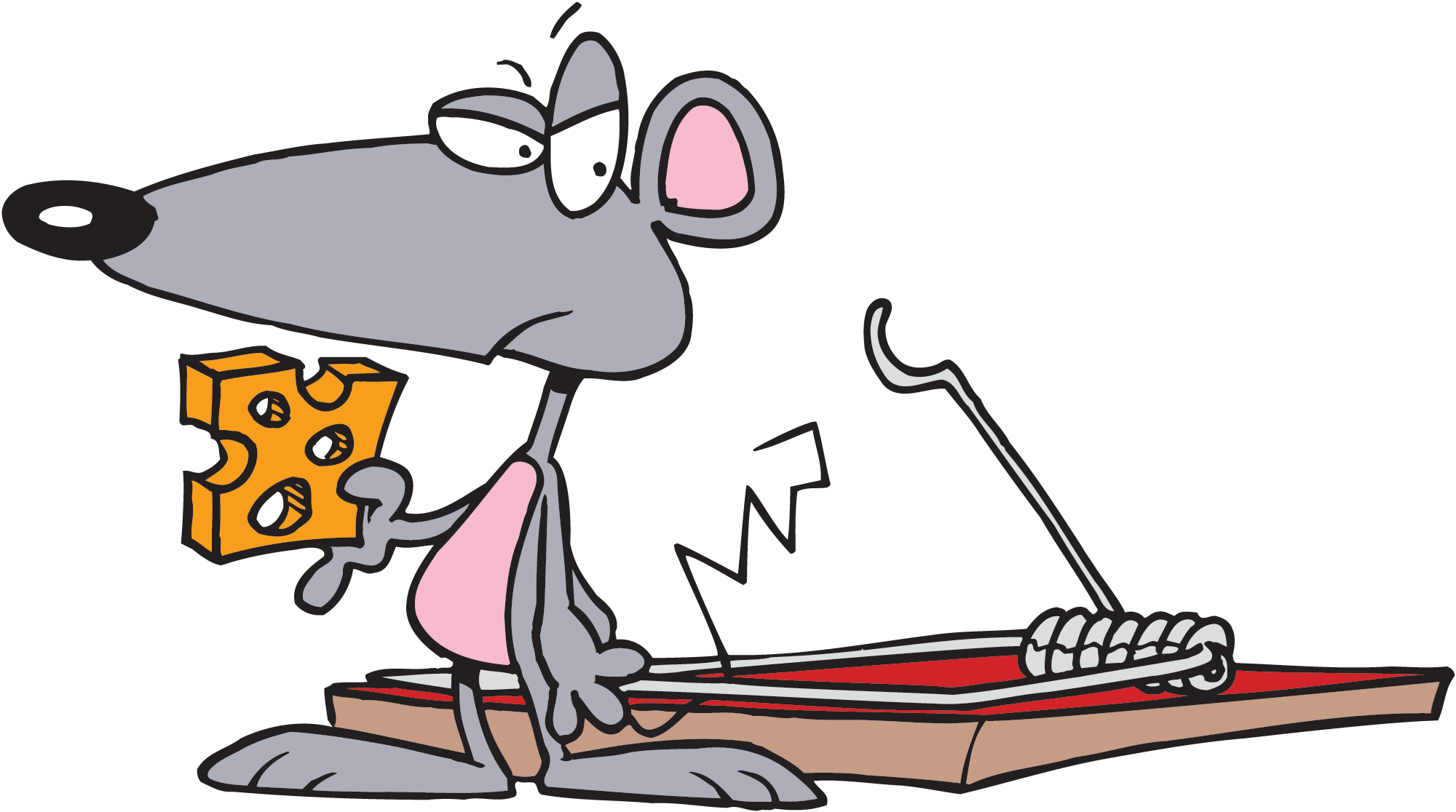 Mousetrap drawing cartoon. Mouse trap attack just