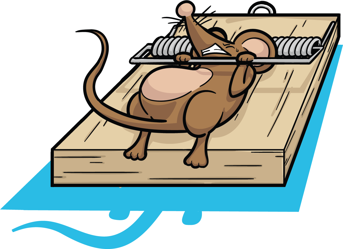 Mousetrap drawing rat trap. Mouse clipart black