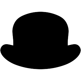 Moustache clipart bowler hat. Hats embroidery designs design