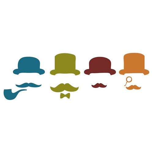Moustache clipart bowler hat. Silhouette at getdrawings com