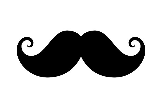 Moustache clipart handlebar mustache. Black photographic prints by