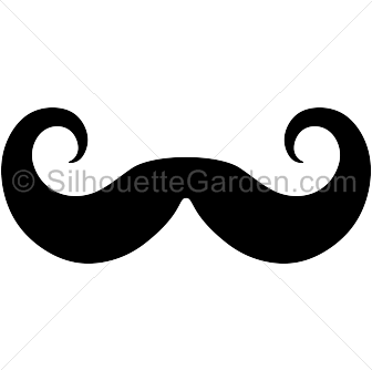 Moustache clipart handlebar mustache. Pin by muse printables
