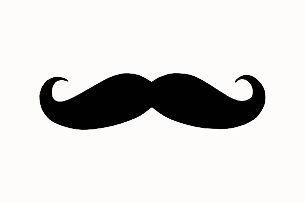 Moustache clipart handlebar mustache. The thoughts of a