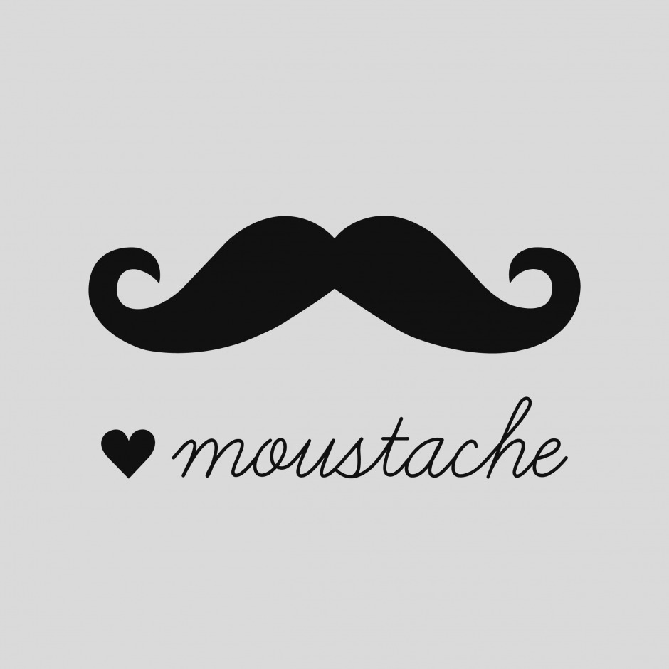 Moustache clipart handlebar mustache. Awesome of clip art