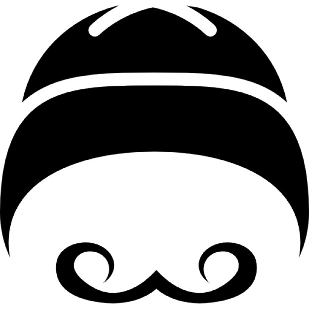 Moustache clipart mustache chinese. Hat variant with curled
