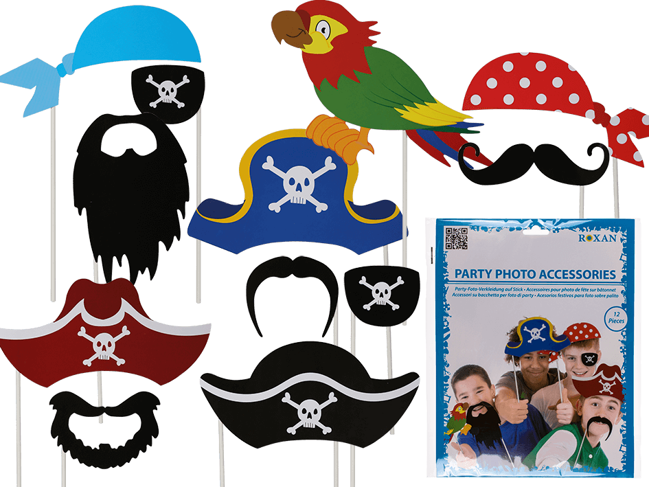 Moustache clipart pirate accessory. Party photo accessoires on