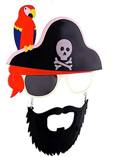 Moustache clipart pirate accessory. Amazon com sunstaches beard