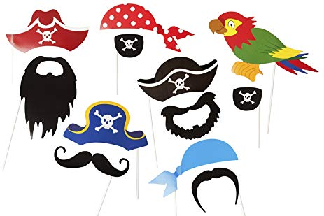 Moustache clipart pirate accessory. Amazon com party photo