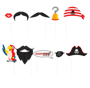 Moustache clipart pirate accessory. Photo booth props fun