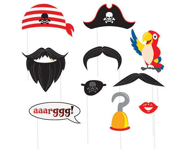 Moustache clipart pirate accessory. Best birthday party
