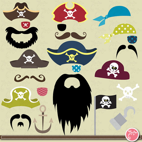 Moustache clipart pirate accessory. Clip art setmustacheparty weddings