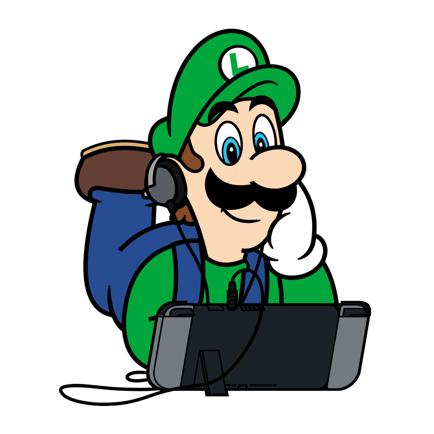 Moustache clipart super mario. X nintendo switch luigi