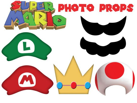 Moustache clipart super mario. Inspired photo props diy