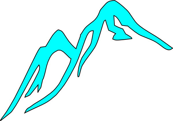 Moutain vector cartoon. Mountain tops covered with