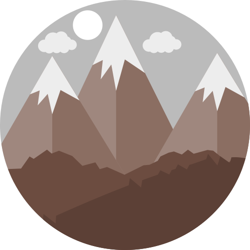 Moutain vector flat. Multicolor mountain icon png
