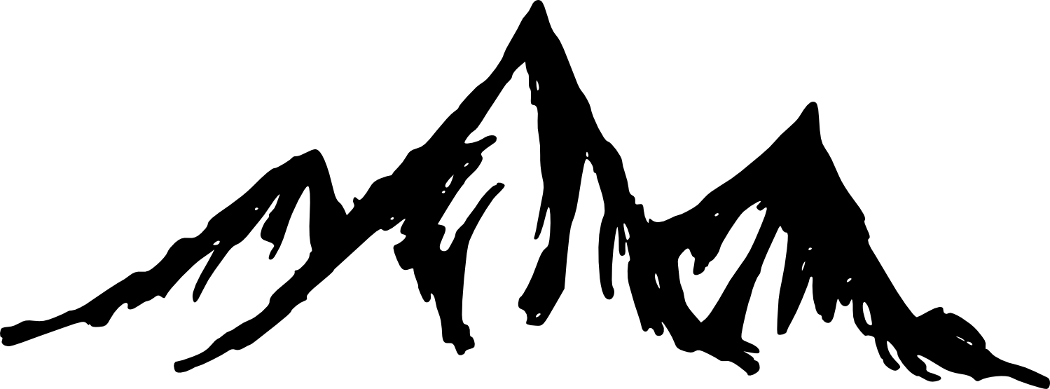 Moutain vector minimalist. Collection of free mountains