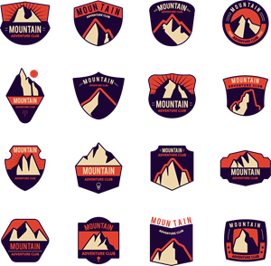 Moutain vector symbol. Mountain logo eps free