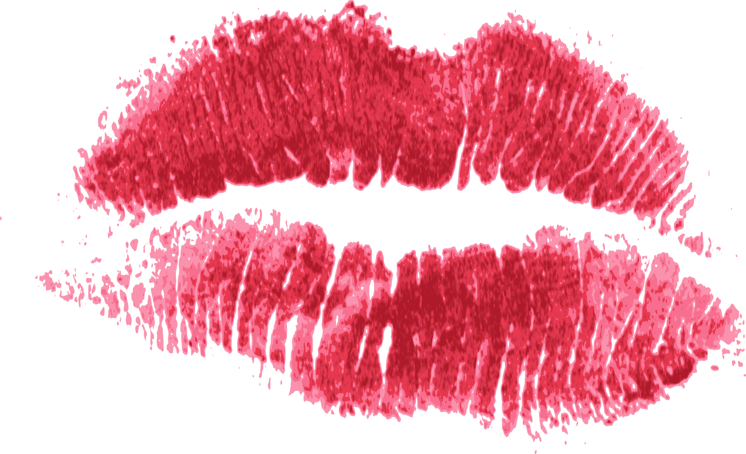 red print of. Water color lips png png transparent stock