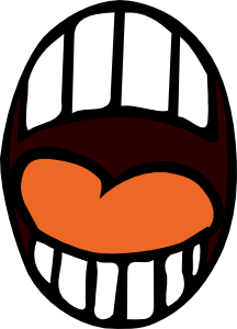 Mouth svg mad. Talking clipart panda free