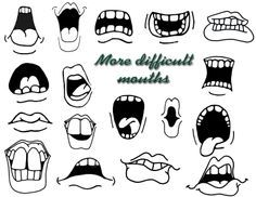Mouth clipart cartooning. Cartoon eyes and images