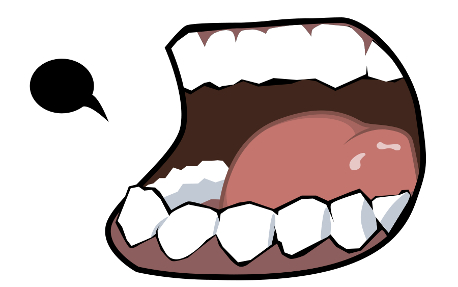 Mouth clipart cartooning. Free teeth cartoon images