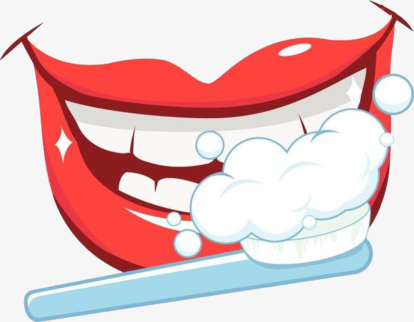 Mouth clipart dientes. Brush one s teeth