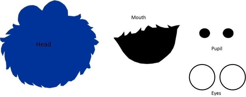 Mouth clipart elmo. Cookie monster face template