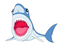 Mouth clipart jaw. Free shark clip art