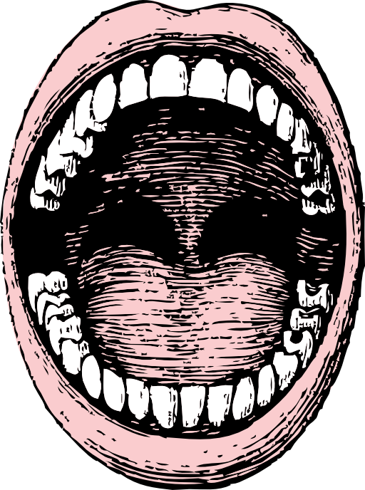 Mouth clipart jaw. Open i royalty free