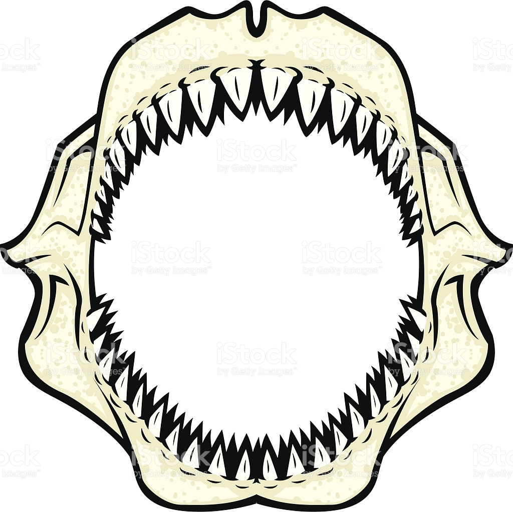 Mouth clipart jaw. Shark with open drawing