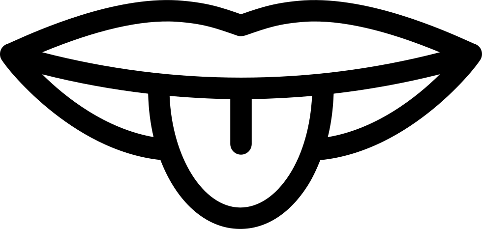 Mouth outline png. Showing off tongue svg