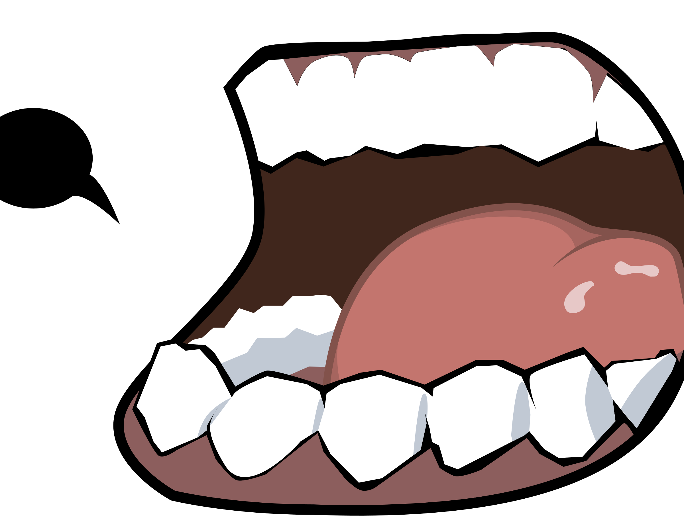Mouth png clipart. Dark big image