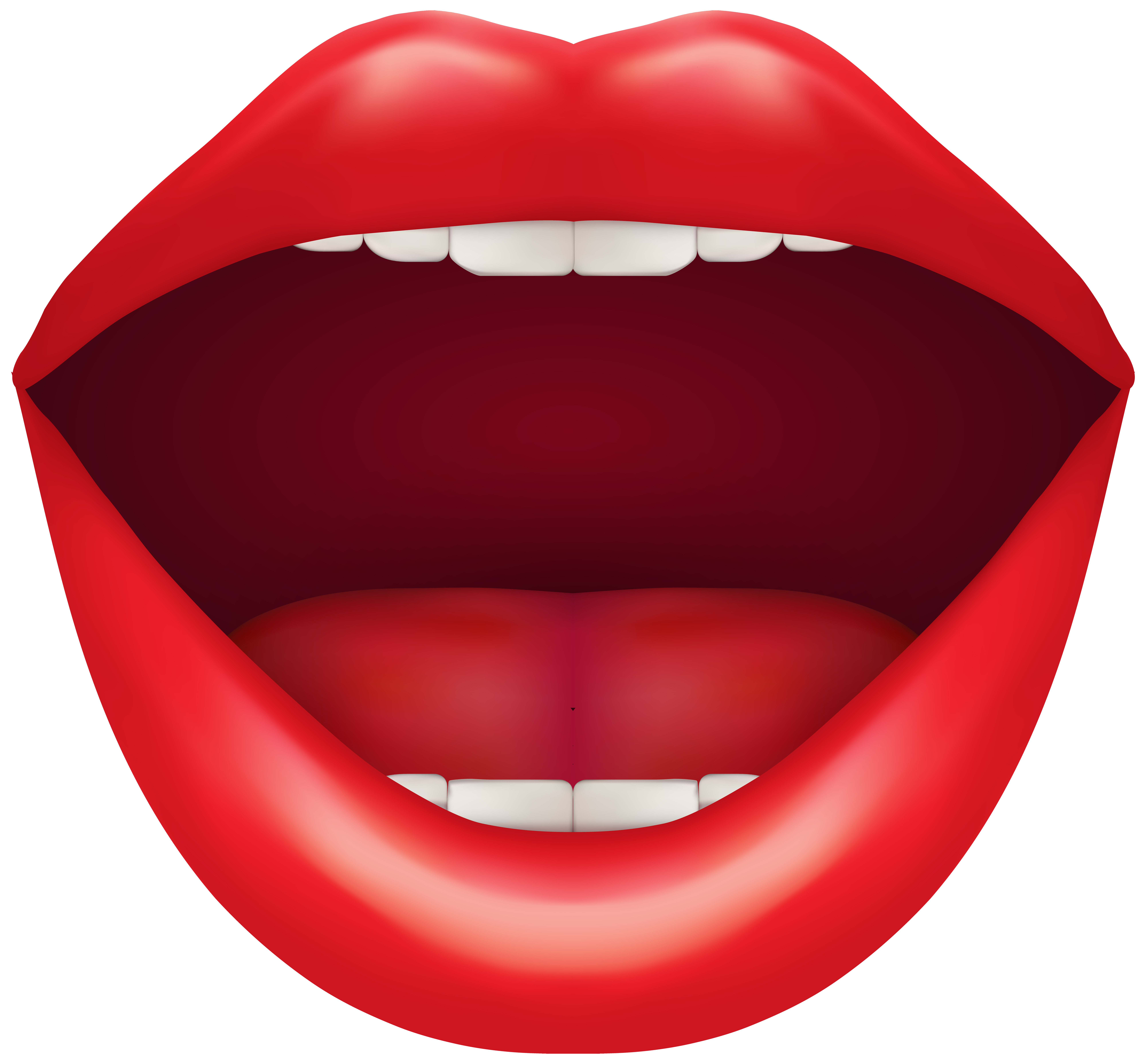 Mouth png clipart. Open red clip art
