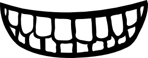 Mouth svg angry. Body part clip art