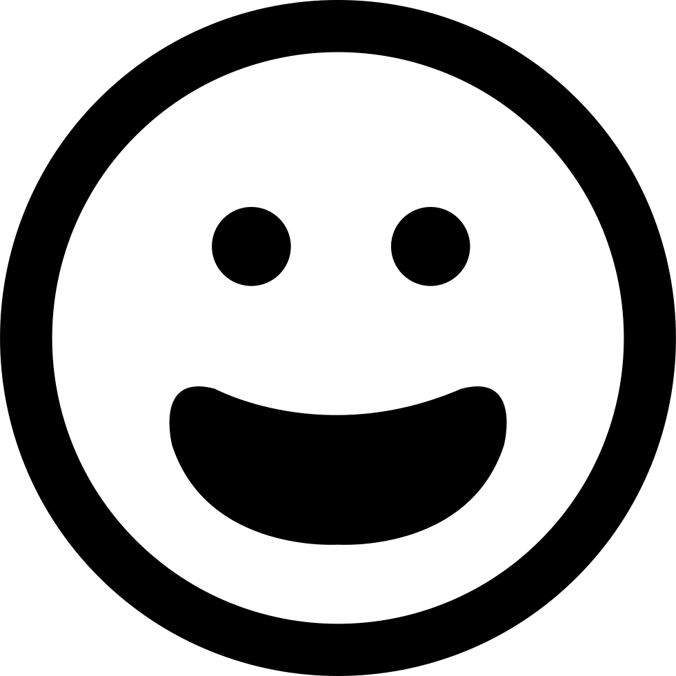 Mouth svg happy. Smiling emoticon face with
