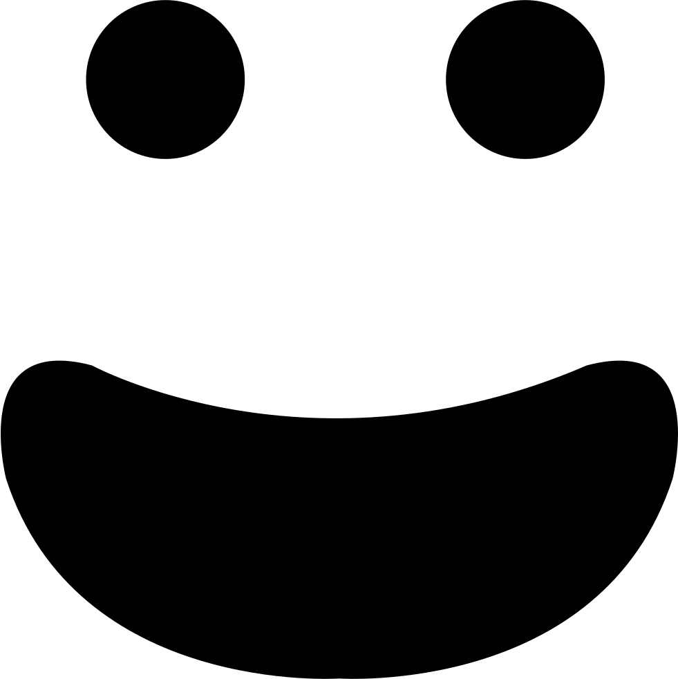 Mouth svg open. Happy smiling emoticon face