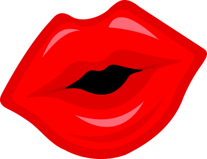 Mouth svg red lips. Clipart huge freebie
