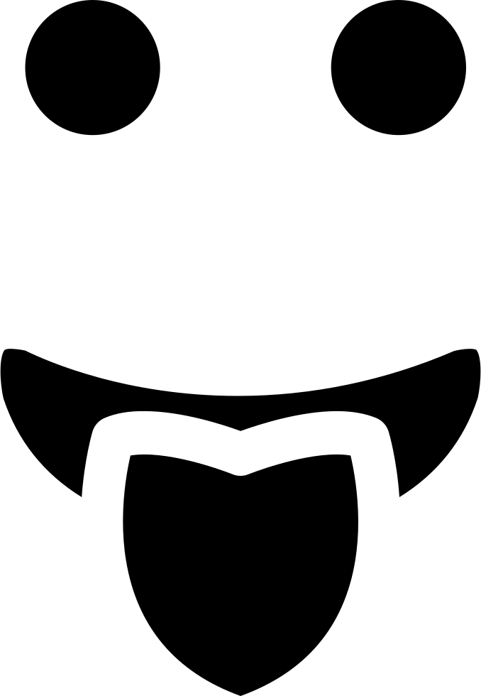 Mouth svg tongue. Emoticon square rounded face