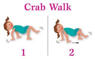Movement clipart crab walk. Relay activity for under